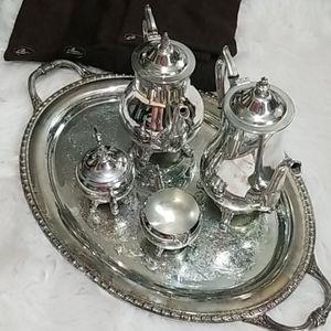Antique tea set with tray
